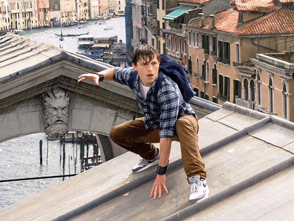 PHOTO: Tom Holland, as Peter Parker, in a scene from Spider-Man: Far From Home.