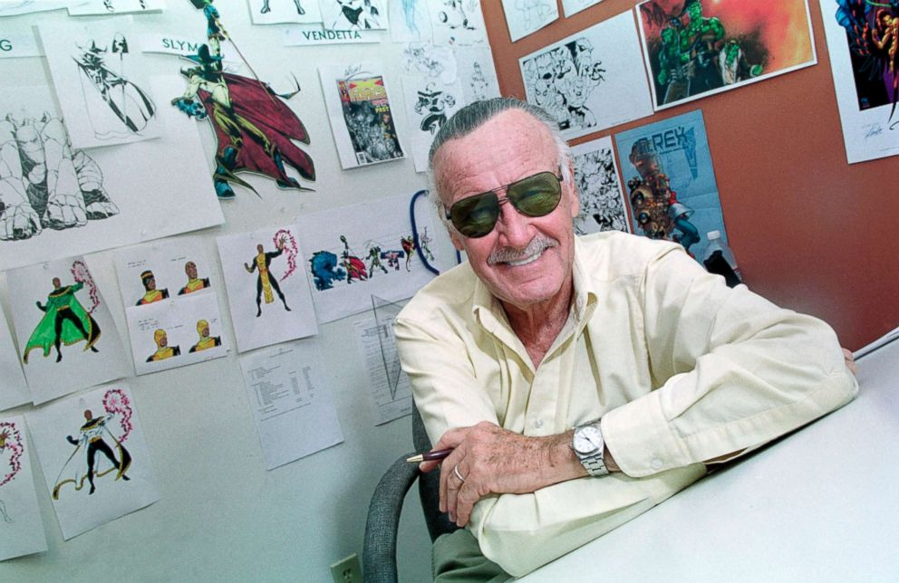 PHOTO: Stan Lee, the creator of The Amazing Spider-Man and other Marvel Comic Book Characters is pictured in his Los Angeles office, Jan. 20, 2005.