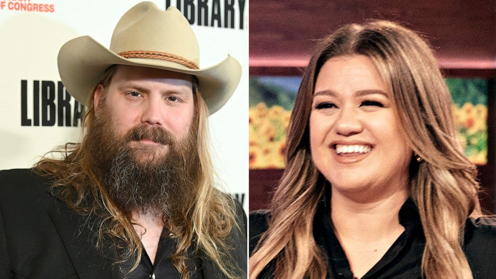 Chris Stapleton teams with Kelly Clarkson for a festive new duet, 'Glow'