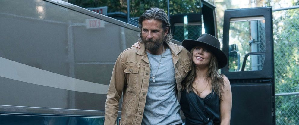 "PHOTO: Bradley Cooper, left, and Lady Gaga in a scene from ""A Star is Born."""