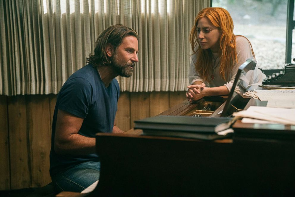 PHOTO: Bradley Cooper, left, and Lady Gaga in a scene from A Star is Born.