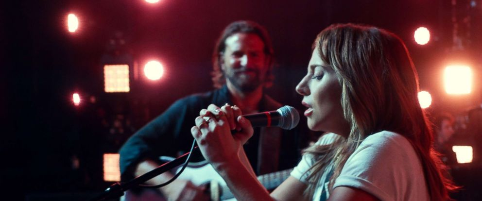 "PHOTO: Bradley Cooper and Lady Gaga in a scene from the movie, ""A Star is Born."""
