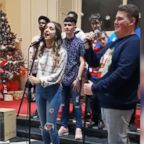 "Christopher Halligan, 19, and Jessica Reinl, 17, sang a rendition of ""Shallow"" from the Golden Globe-nominated film, ""A Star Is Born,"" alongside the Mount Sion Choir in Ireland."