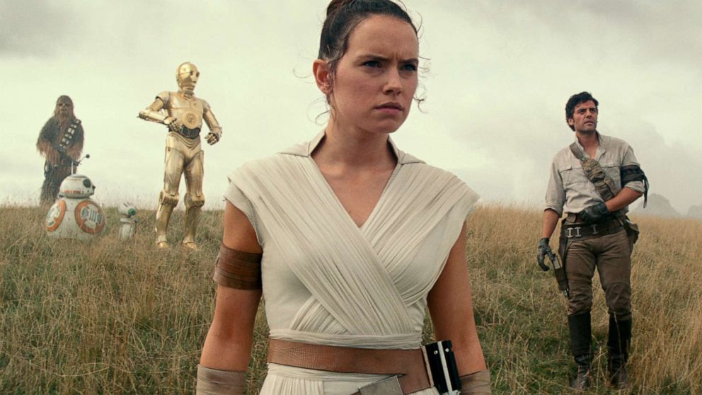 "Daisy Ridley as Rey in a scene from ""Star Wars: Episode IX."""
