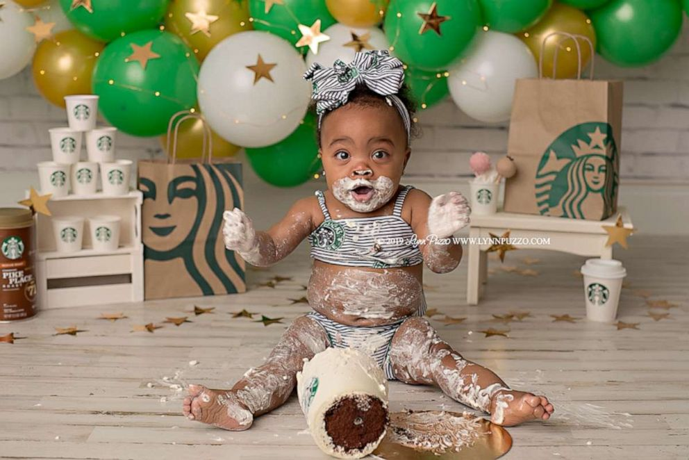 PHOTO: Aria Jade Dillon at her Starbucks photo shoot.