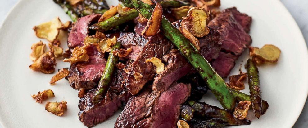 "PHOTO: Jamie Olivers quick steak stir-fry from his new cookbook ""5 Ingredients Quick & Easy Food."""