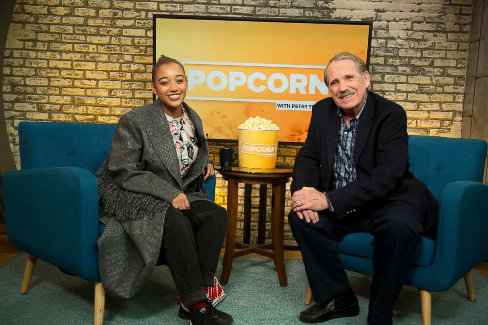 PHOTO: Amandla Stenberg appears on Popcorn with Peter Travers at ABC News studios, Nov. 30, 2018, in New York City.