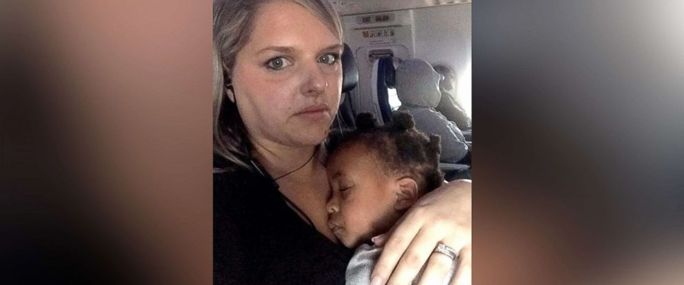 PHOTO: Blogger Stephanie Hollifield is pictured with her young daughter in a photo she shared on Feb. 3, 2019, with an open letter to a fellow airline passenger after a recent flight.