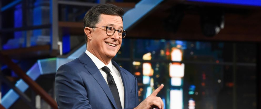 "PHOTO: Stephen Colbert hosts the ""The Late Show with Stephen Colbert,"" July 19, 2018."