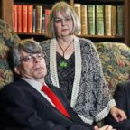 Stephen King, Tabitha, and son Owen are seen in this April 4, 2008 file photo.