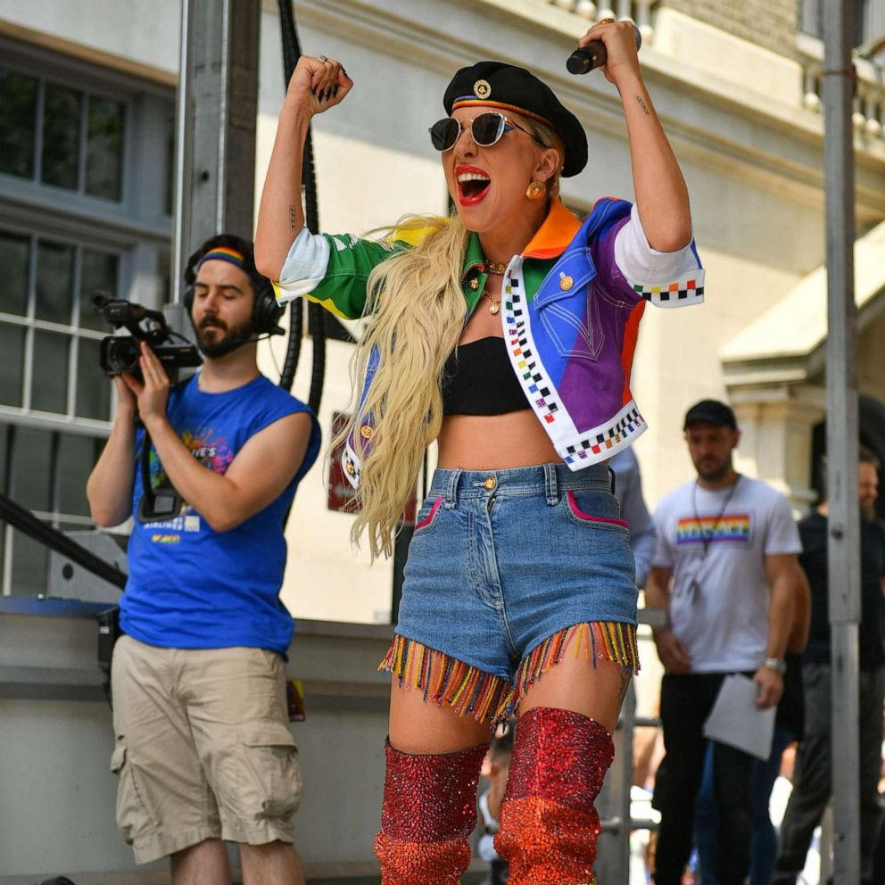Lady Gaga surprises crowd with empowering speech at