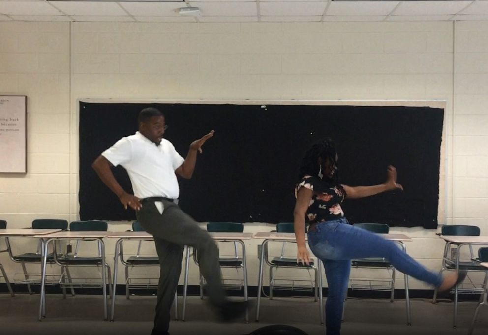 PHOTO: This undated photo shows Terrence Bradley and MyAngel Johnsons epic routine was captured on video after 14-year-old MyAngel aced her end of year reading exam.