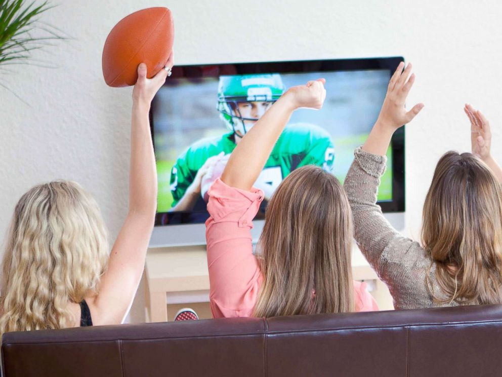 PHOTO: An undated stock photo of women watching a football game.
