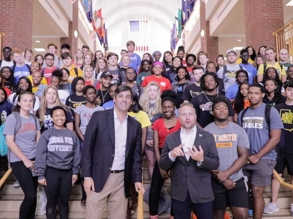 PHOTO: Superintendent Grant Rivera of the Marietta schools system is donating his $10,000 bonus to help students with college application fees.
