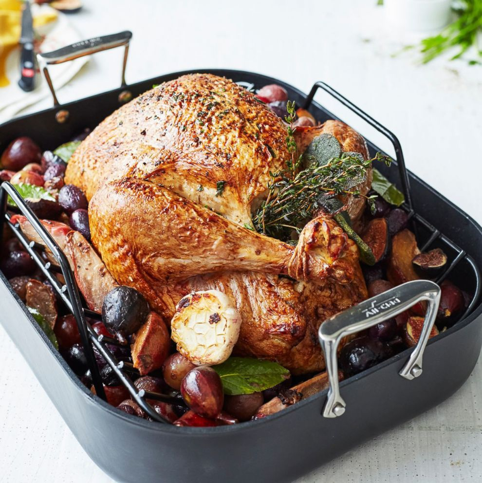 PHOTO: All-Clad HA1 Nonstick Roasting Pan with Rack, 16 x 13 from Sur La Table.