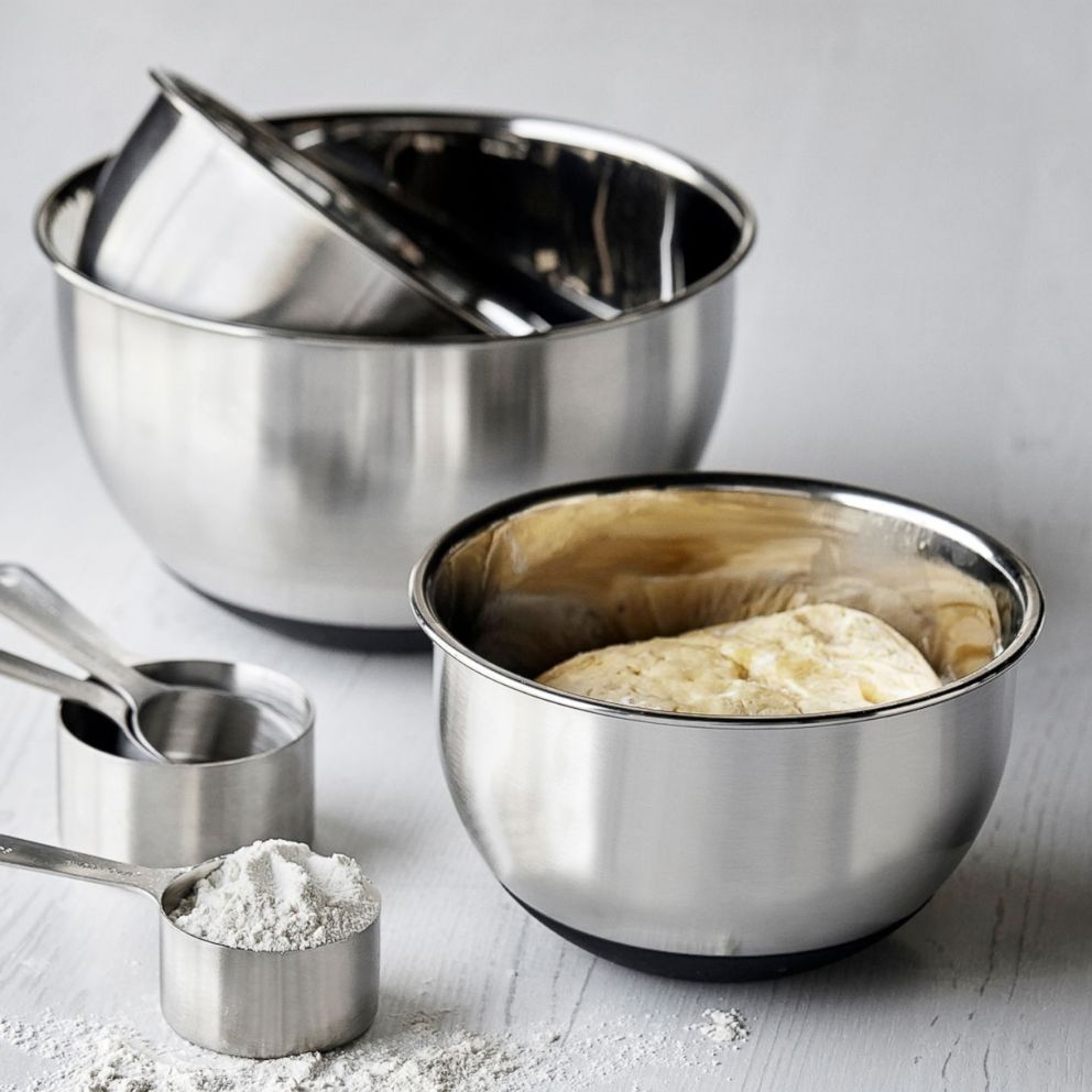 PHOTO: Stainless steel mixing bowls, set of 3 from Sur La Table.