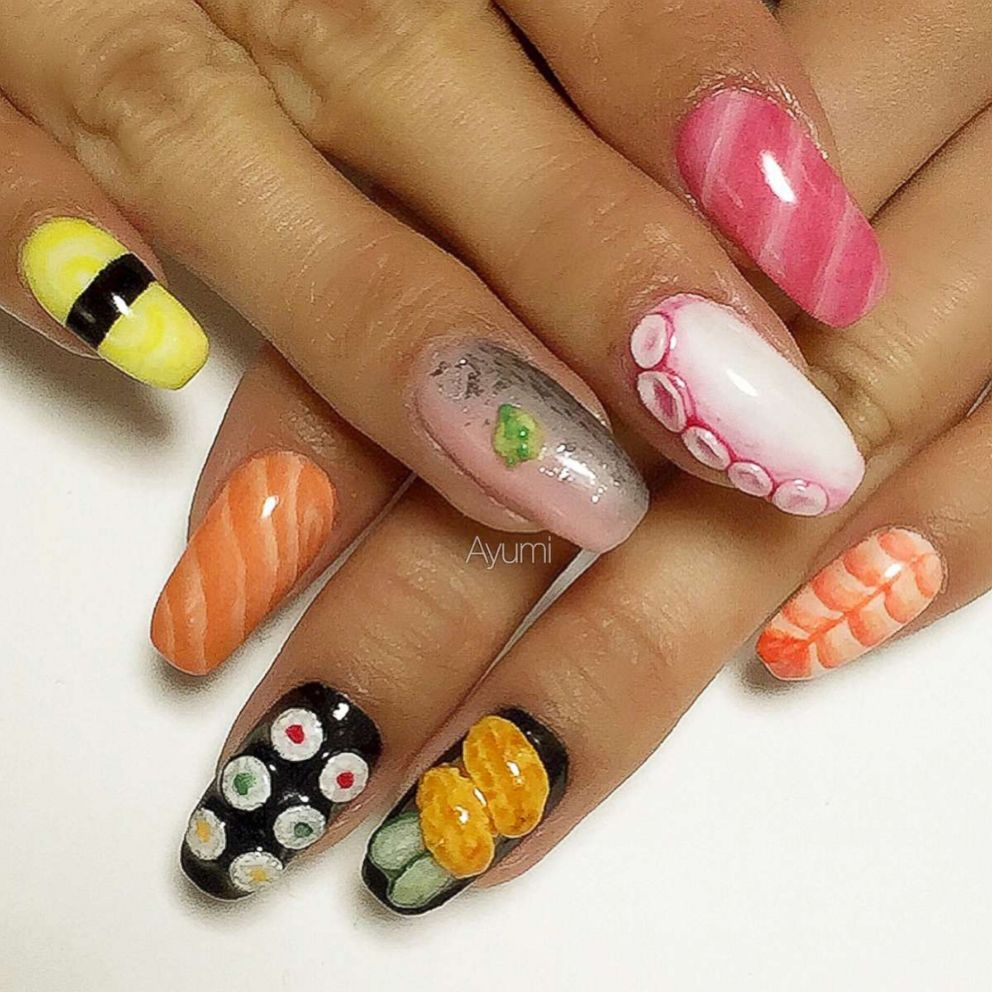 PHOTO: This creative manicure is inspired by all different types of sushi.
