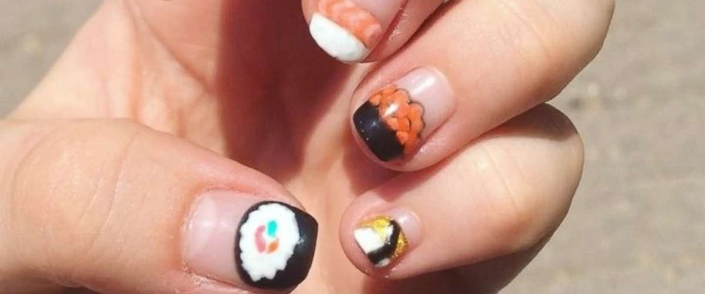 PHOTO: Nail artist have begun to paint the popular fish dish, sushi, on their nails.