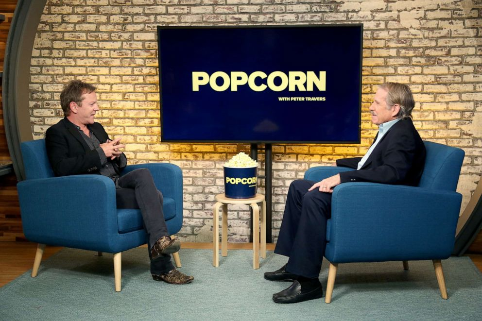 PHOTO: Kiefer Sutherland appears on Popcorn with Peter Travers at ABC News studios, May 9, 2019, in New York City.