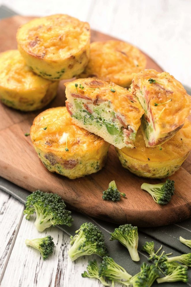 PHOTO: Suzanne Ryans broccoli, bacon, and cheese egg muffins.