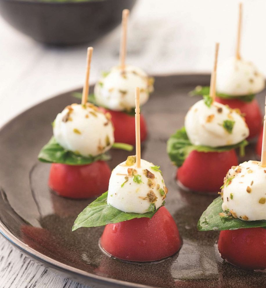PHOTO: Simply Keto author Suzanne Ryans recipe for caprese skewers.