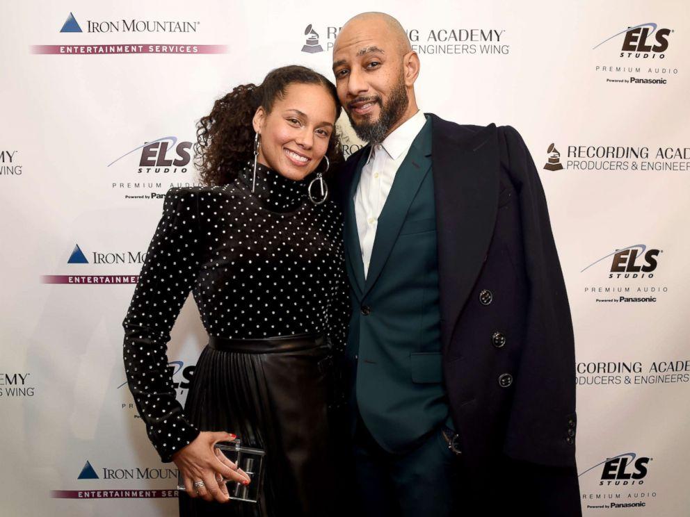 PHOTO: Alicia Keys, left, and Swizz Beatz at The Rainbow Room, Jan. 25, 2018, in New York City.