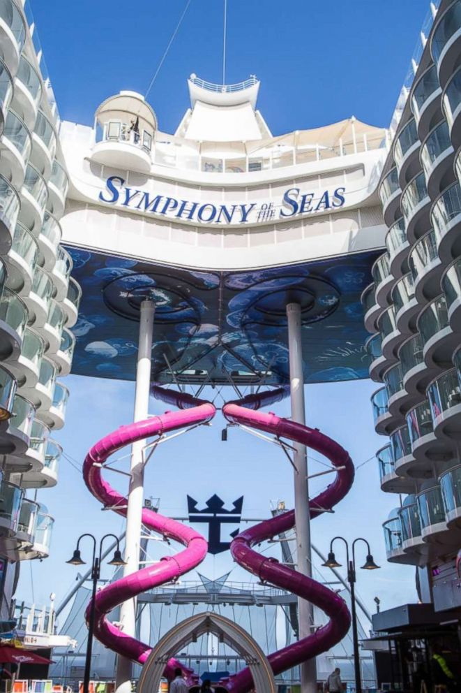 PHOTO: The Ultimate Abyss slide on the Symphony of the Seas cruise is 10-stories high, marking it one of the most adventurous activities on the ship.