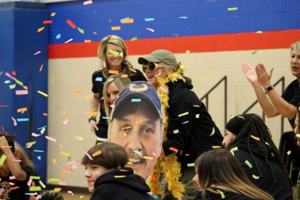 PHOTO: Tamarack Elementary School celebrates head custodian Ricky Young on Mr. Ricky Day.