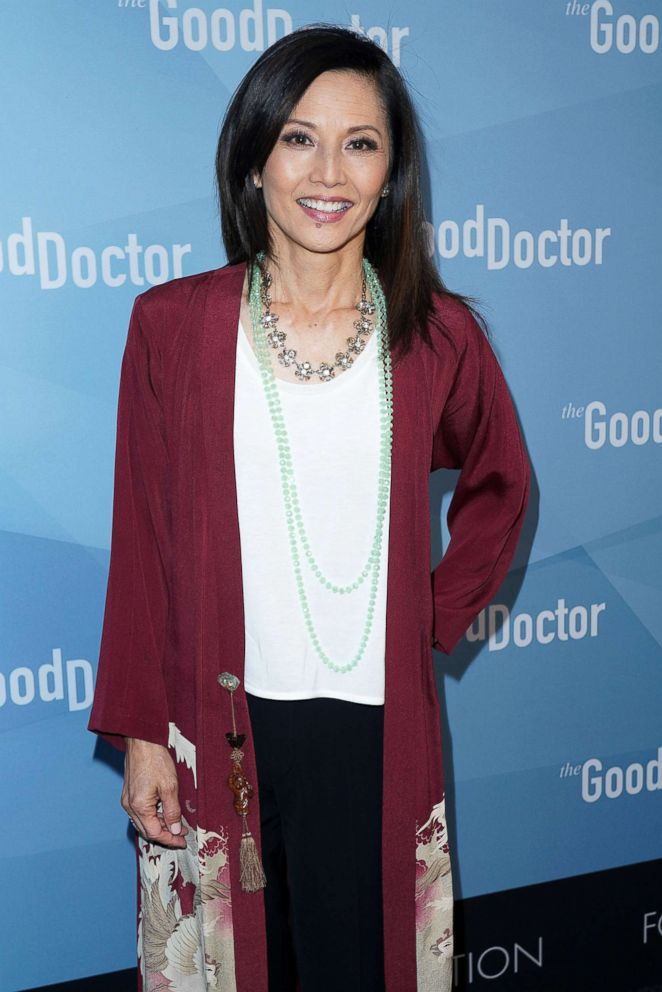 """Actor Tamlyn Tomita attends For Your Consideration Event for ABC's """"The Good Doctor"""" at Sony Pictures Studios, May 22, 2018, in Culver City, Calif."""