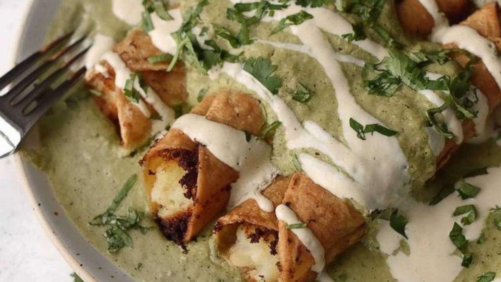 Celebrate Hispanic Heritage Month with taquitos de papa and creamy salsa verde