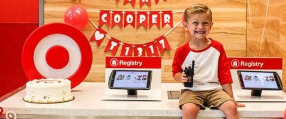PHOTO: 5-year-old Cooper Rickmans birthday wish was to be a Target employee for the day.