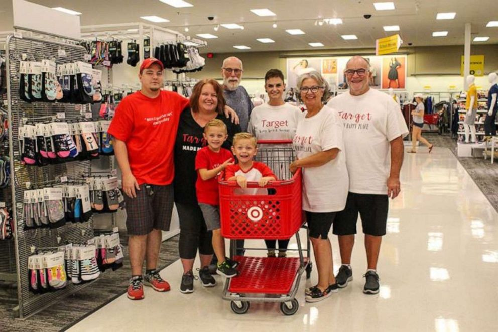 PHOTO: His whole family made custom shirts to celebrate Coopers big day.