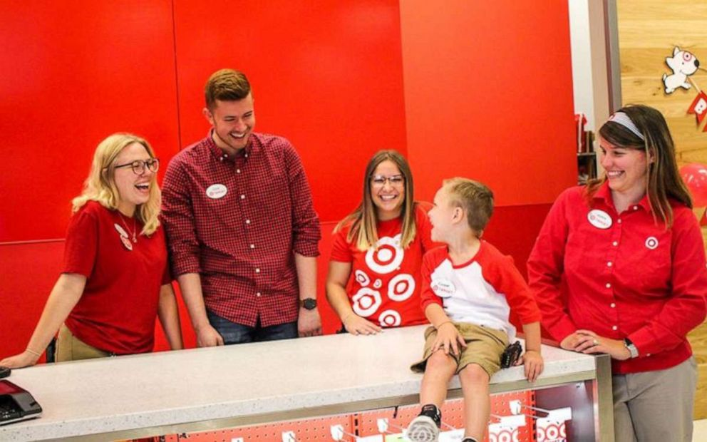 PHOTO: Coopers mom said that the employees at Target did were so thrilled to host him for the day.
