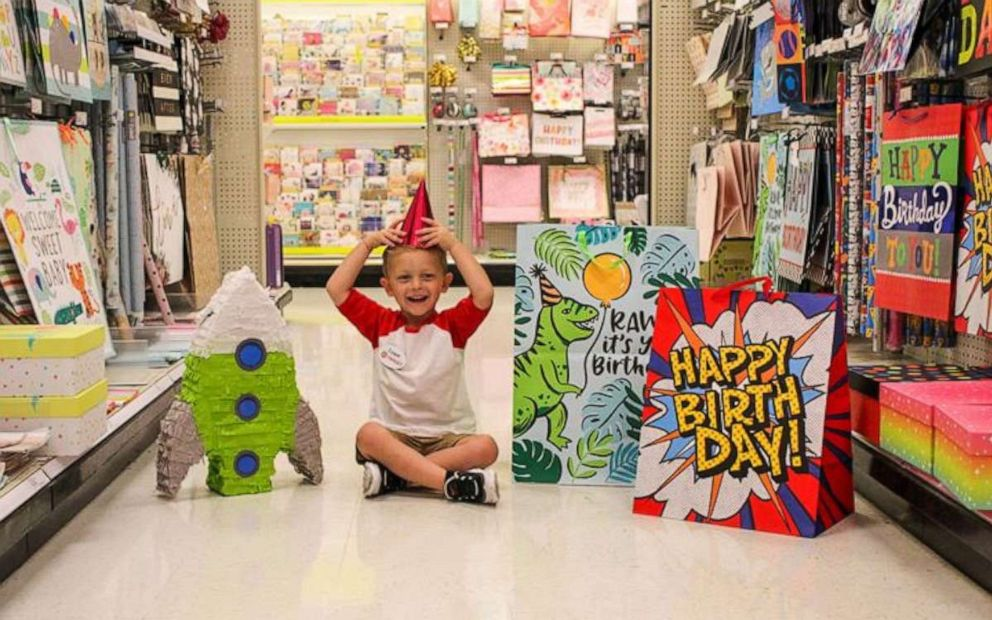 PHOTO: Coopers mom, Hannah Rickman, spent the day photographing her sons celebration at Target.