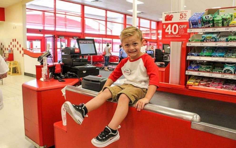 PHOTO: Hannah Rickman reached out to her local Target store three months before to plan the celebration for her son.