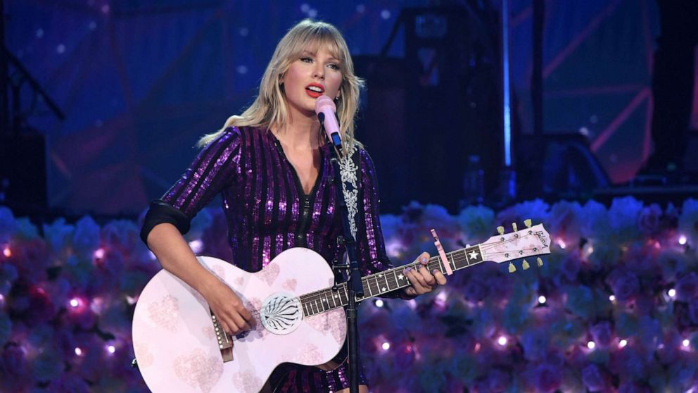 PHOTO: Taylor Swift performs onstage at The Prime Day concert, presented by Amazon Music at on July 10, 2019, at Hammerstein Ballroom in New York.