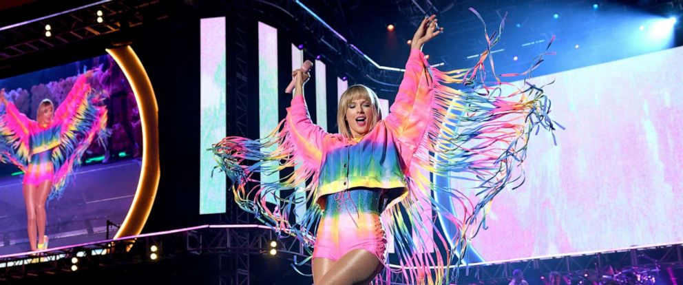 PHOTO: Taylor Swift performs onstage at 2019 iHeartRadio Wango Tango at Dignity Health Sports Park, June 1, 2019, in Carson, Calif.