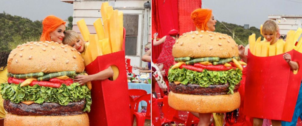 PHOTO: Katy Perry shared these images from Taylor Swifts video on Twitter.