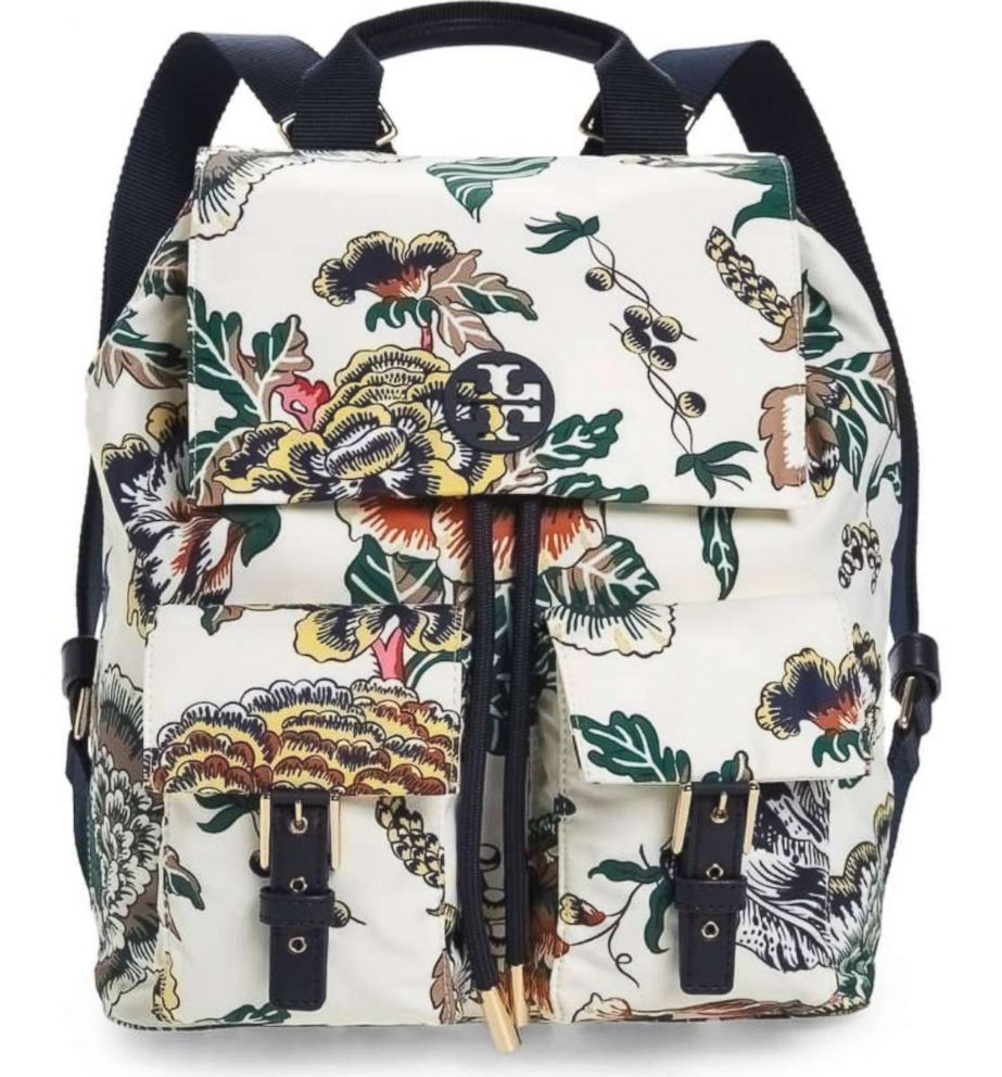 PHOTO: Tory Burch, Tilda Print Nylon Flap Backpack, $248
