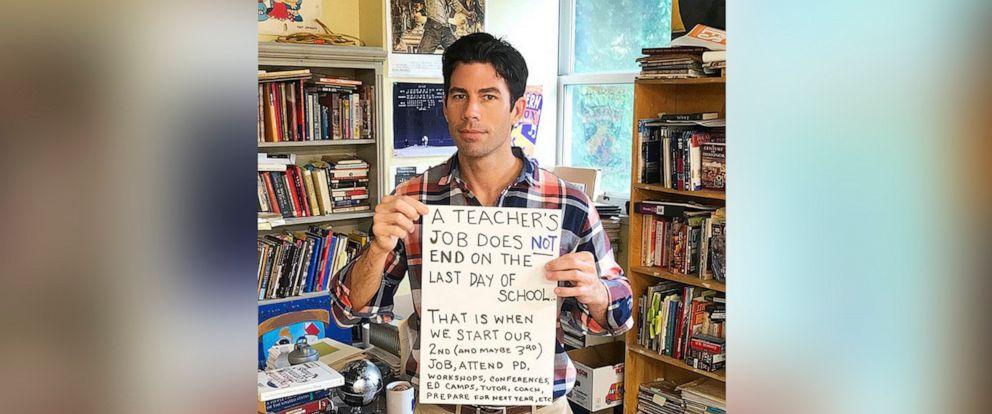 PHOTO: Nicholas Ferroni, a New Jersey teacher, started a viral Twitter thread about teachers called #NoSummersOff.