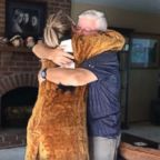 On October 7, George Labecki, 63, was surprised by Lindsay Arnold Wenrich, 34, who revealed that she'd be donating her kidney to him.