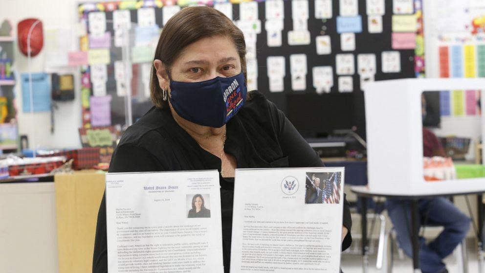 Teacher and her kindergartners stunned to receive response letters from Joe Biden, Kamala Harris