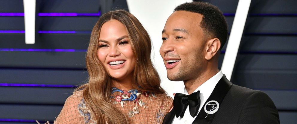 PHOTO: Chrissy Teigen and John Legend attend the 2019 Vanity Fair Oscar Party hosted on Feb. 24, 2019, in Beverly Hills, Calif.