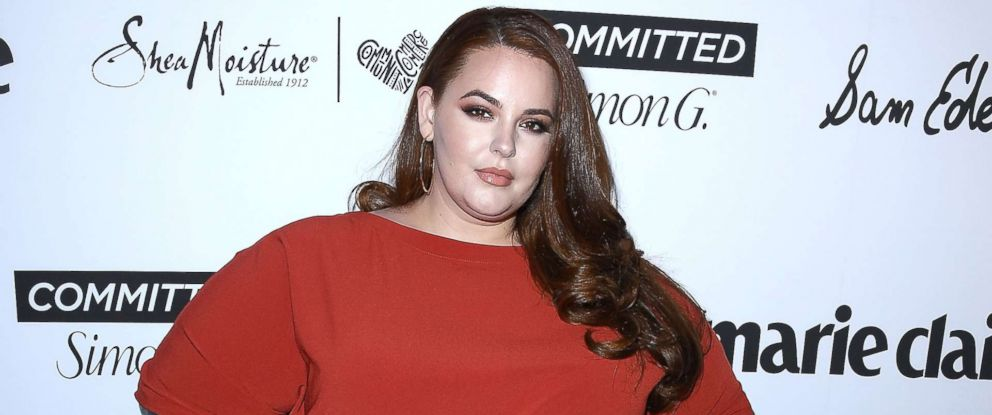 PHOTO: Tess Holliday arrives at the Marie Claires 5th Annual Fresh Faces at Poppy on April 27, 2018 in Los Angeles.