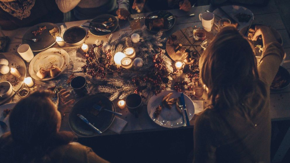 An undated stock photo of a Thanksgiving dinner.