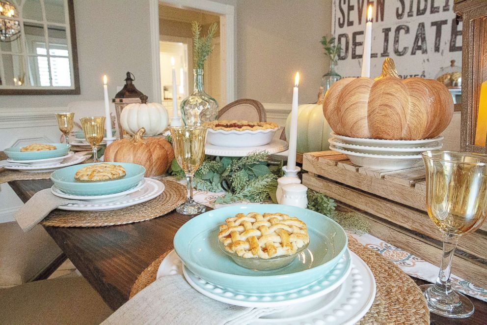 PHOTO: Recreate this bright and modern look on your table this Thanksgiving.