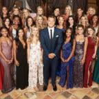 "Colton Underwood is pictured with the cast of the new season of ""The Bachelor."""