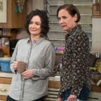 """Sara Gilbert and Laurie Metcalf in a scene from """"The Conners."""""""