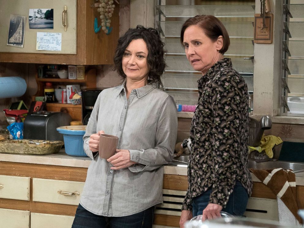 PHOTO: Sara Gilbert and Laurie Metcalf in a scene from The Conners.