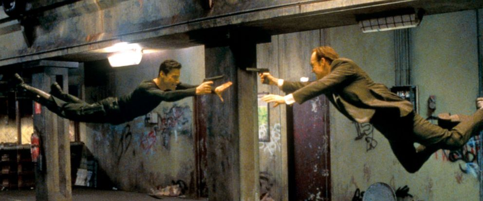 """PHOTO: Keanu Reeves and Hugo Weaving in a scene from """"The Matrix."""""""